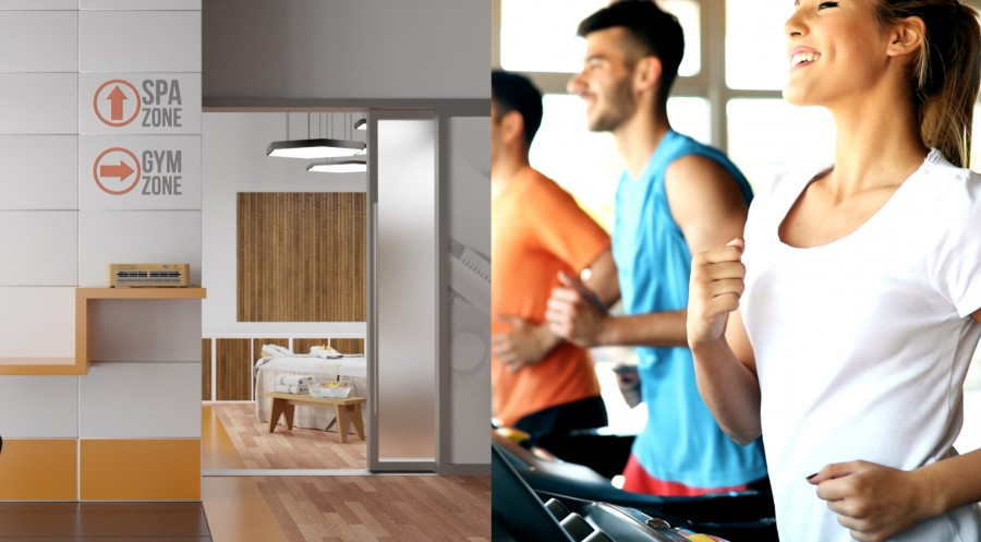 Healthy air in gym, fitness center, health resort and SPA